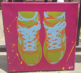 """""""Running Shoes"""" - Spray Paint"""